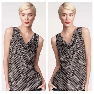 Cabi sleeveless cat heart blouse